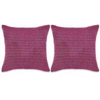vidaXL Kudde 2 st velour rosa 60x60 cm