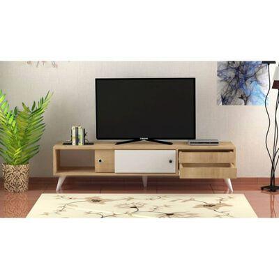 Homemania TV-bänk Eduardo 160x40x40 cm ek och vit