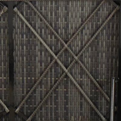 vidaXL Solsäng med dyna konstrotting grå