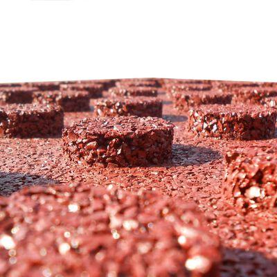 vidaXL Fallskyddsmattor 12 st gummi 50x50x3 cm röd