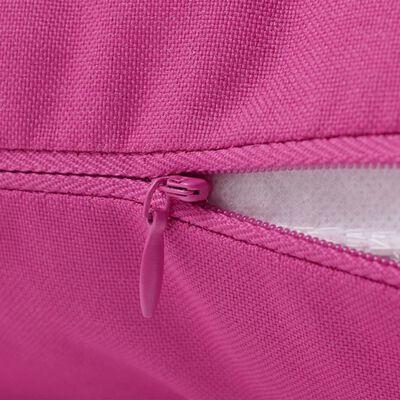 vidaXL Prydnadskuddar för trädgården 4 st 60x40 cm rosa