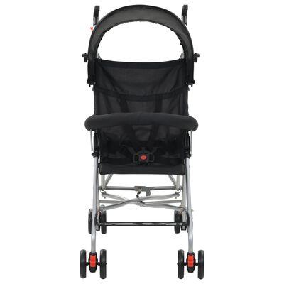 vidaXL Barnvagn hopfällbar stål svart