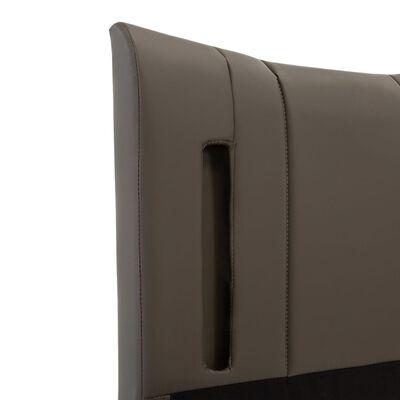 vidaXL Sängram med LED antracit konstläder 100x200 cm
