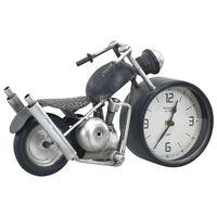 vidaXL Bordsklocka antracit 32x10,5x18 cm järn och MDF