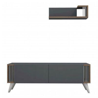 Homemania TV-bänk Nicol 120x31x42 cm antracit