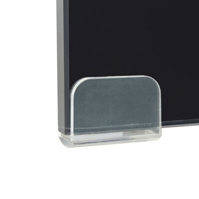 vidaXL TV-bord glas svart 40x25x11 cm