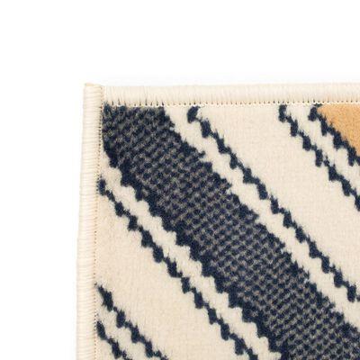 vidaXL Modern matta sicksackdesign 160x230 cm brun/svart/blå