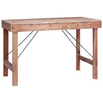 vidaXL Matbord 120x60x80 cm massivt återvunnet trä