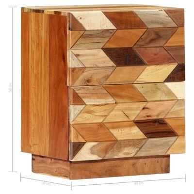vidaXL Sängbord 40x30x50 cm massivt återvunnet trä