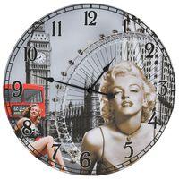 vidaXL Väggklocka vintage Marilyn Monroe 60 cm