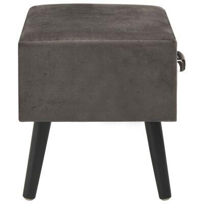 vidaXL Sängbord 2 st grå 40x35x40 cm sammet