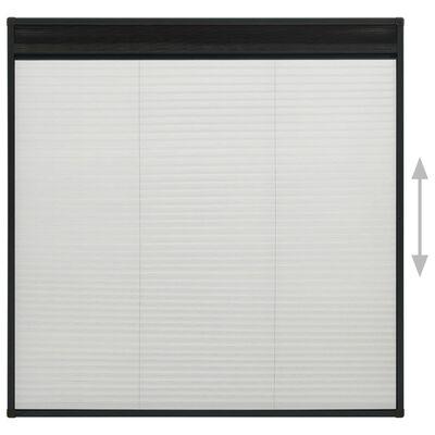 vidaXL Plisserat insektsnät för fönster aluminium antracit 120x120 cm