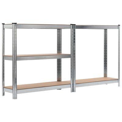 vidaXL Förvaringshylla silver 90x30x180 cm stål och MDF