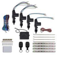 vidaXL Centrallås för fordon inkl. 2 fjärrkontroller och 4 motorer 12V