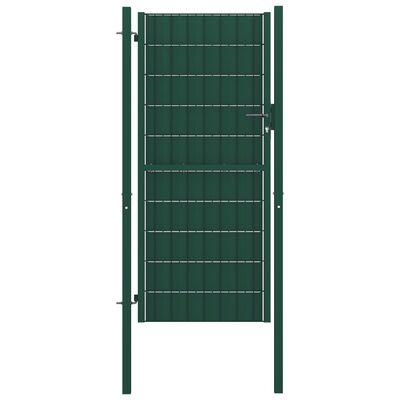 vidaXL Trädgårdsgrind stål 100x204 cm grön
