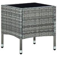 vidaXL Trädgårdsbord grå 40x40x45 cm konstrotting