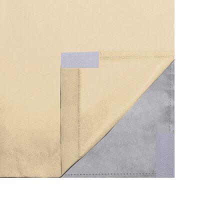 vidaXL Mörkläggningsgardiner 2 st dubbla lager 140x245 cm beige