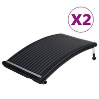 vidaXL Rundade solpaneler för pool 2 st 110x65 cm