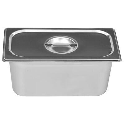 vidaXL Varmhållningskärl vattenbad rostfritt stål 1500 W GN 1/3