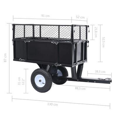 vidaXL Tippvagn för trädgårdstraktor 150 kg last