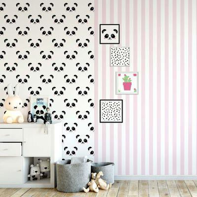Fabulous World Tapet Stripes vit och rosa 67103-4