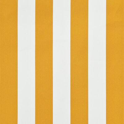 vidaXL Markis med LED 250x150 cm gul och vit