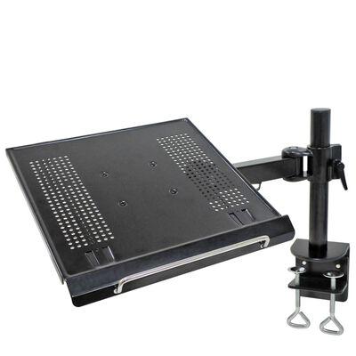 """NewStar Bordsfäste för laptop 10""""-22"""" justerbar 57 cm svart"""