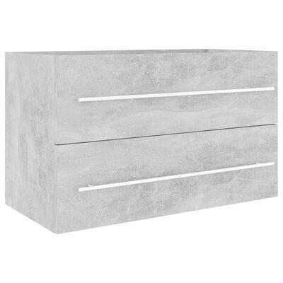 vidaXL Badrumsmöbler set 2 delar betonggrå spånskiva