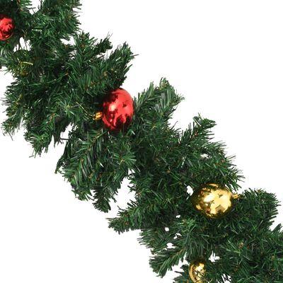 vidaXL Julgirlang med julgranskulor 20 m