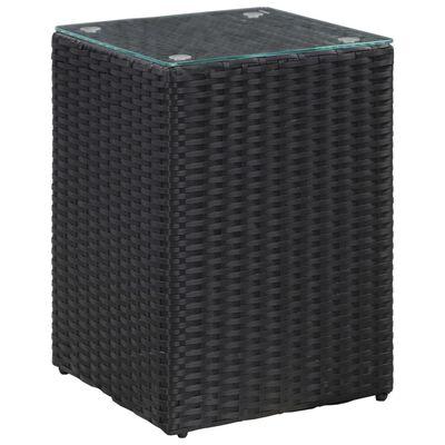 vidaXL Sidobord med glasskiva svart 35x35x52 cm konstrotting