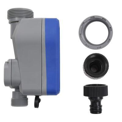 vidaXL Digital bevattningstimer med enkelt utlopp och regnsensor