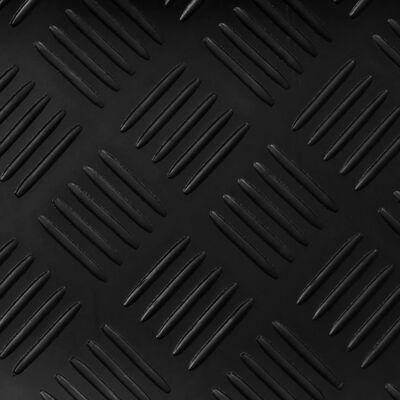 vidaXL Halkfri gummimatta med durkmönster 2 x 1 m