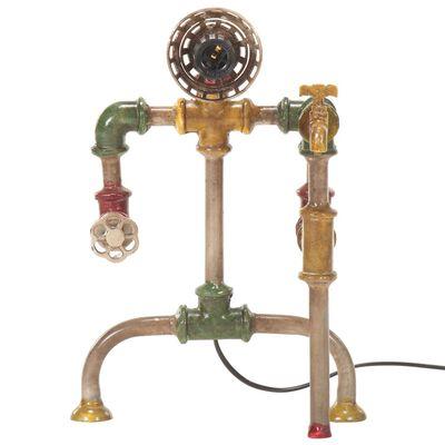 vidaXL Golvlampa industriell design vattenrör järn