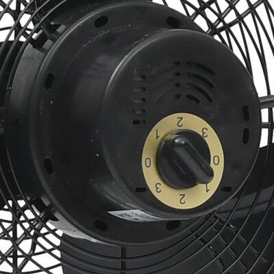 vidaXL Golvfläkt 3 hastigheter 30 cm 40 W svart