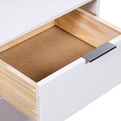 vidaXL Sängbord vit 45x39,5x57 cm massiv furu