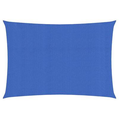 vidaXL Solsegel 160 g/m² blå 2x4,5 m HDPE