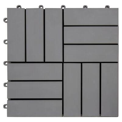 vidaXL Trall 10 st grå 30x30 cm massivt akaciaträ