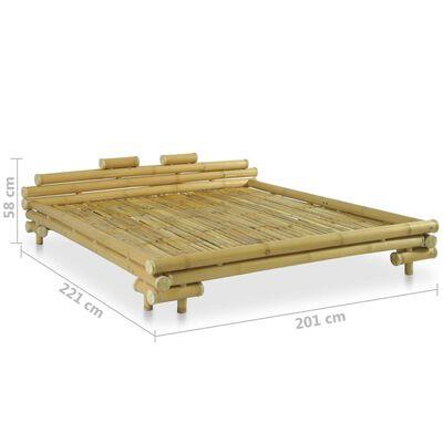 vidaXL Sängram bambu 180x200 cm