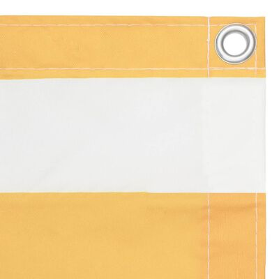 vidaXL Balkongskärm vit och gul 120x600 cm oxfordtyg