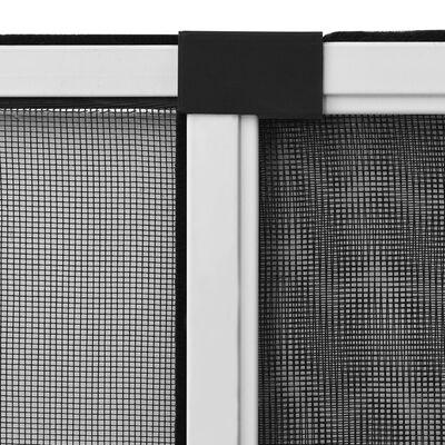 vidaXL Expanderbart insektsnät för fönster vit (75-143)x50 cm