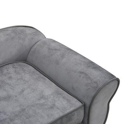 vidaXL Hundsoffa grå 72x45x30 cm plysch