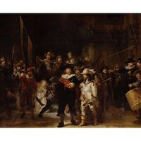 The Night Watch,REMBRANDT Harmenszoon van Rijn,50x40cm