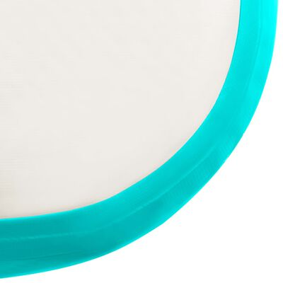 vidaXL Uppblåsbar gymnastikmatta med pump 800x100x20 cm PVC grön