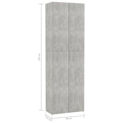 vidaXL Kontorsskåp betonggrå 60x32x190 cm spånskiva