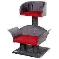 Kerbl Klösträd Lounge Deluxe grå och röd 81548
