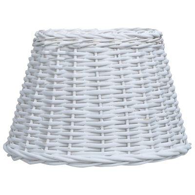 vidaXL Lampskärm korg 30x20 cm vit