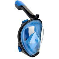 Helmask cyklop med snorkel och GoPro fäste - blå/svart - S/M