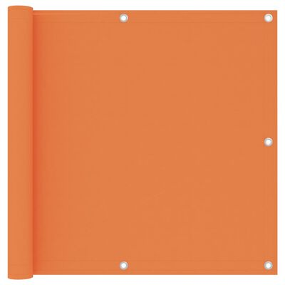 vidaXL Balkongskärm orange 90x400 cm oxfordtyg