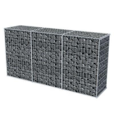 vidaXL Gabionkorg galvaniserat stål 200x50x100 cm