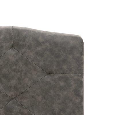 vidaXL Sängram mörkgrå tyg 140x200 cm